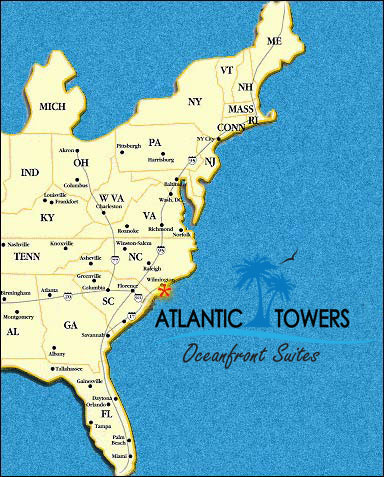 Wide Area Map Eastern Us Atlantic Towers